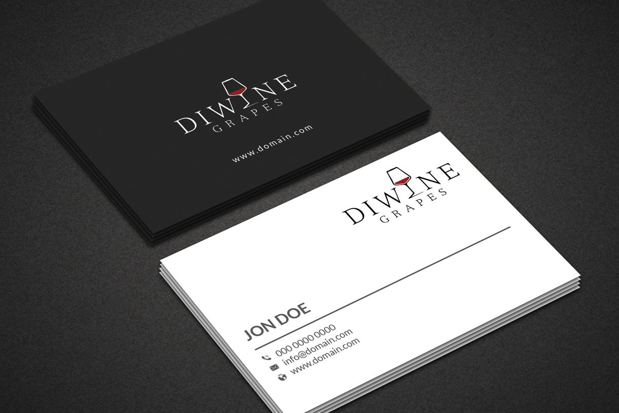 diwinegrapes business cards   Futurum Studio